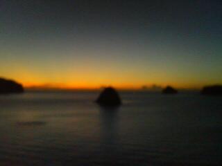父島での夕景