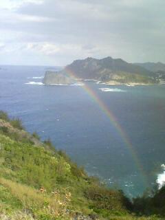 野羊山で虹
