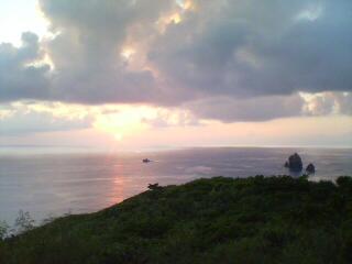 9月最初の静沢の夕日