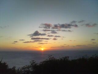 三日月山からの夕日