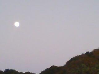 月が昇ってゆくよ〜